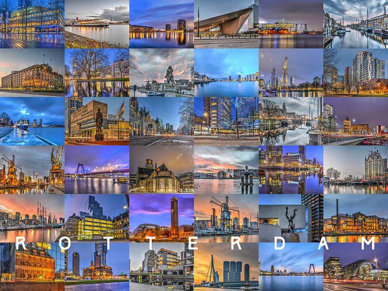 Rotterdam - De Randen van de Nacht van Frans Blok