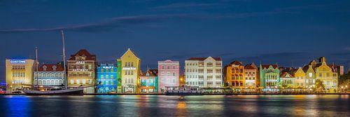 Handelskade in Willemstad Panorama van Edwin Mooijaart