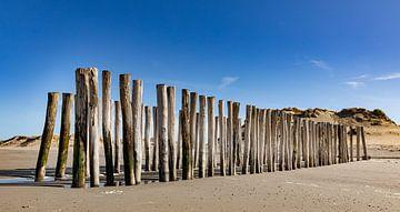 Strandpfosten Westenschouwen 2 von Percy's fotografie