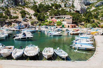 Bootjes in de Calanques in de Provence in Frankrijk von Rosanne Langenberg