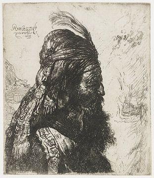 Der dritte orientalische Kopf, Rembrandt van Rijn, nach Jan Lievens.