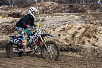 Motorcrosser van Dieuwer van Klaveren