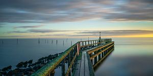 Uitzicht op IJsselmeer bij de jachthaven van Edam van