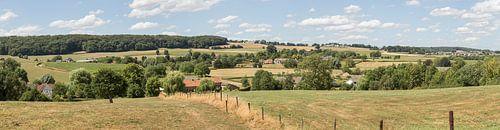 Panorama van de Zuid-Limburgse heuvels bij Epen van