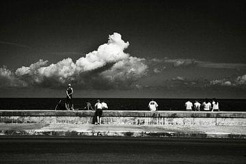 Cuba Havana zee bij boulevard van Lars Beekman