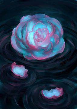 Tweekleurige Roos von Petra van Berkum