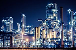 Industrie op de Rotterdamse Maasvlakte van