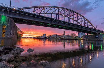 spectaculaire zonsondergang John Frostbrug Arnhem van Patrick Oosterman