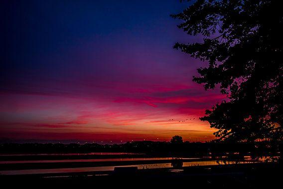 Zonsondergang brug A2 van Brulin fotografie