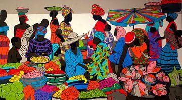 Afrikaanse markt van Irene Jonker
