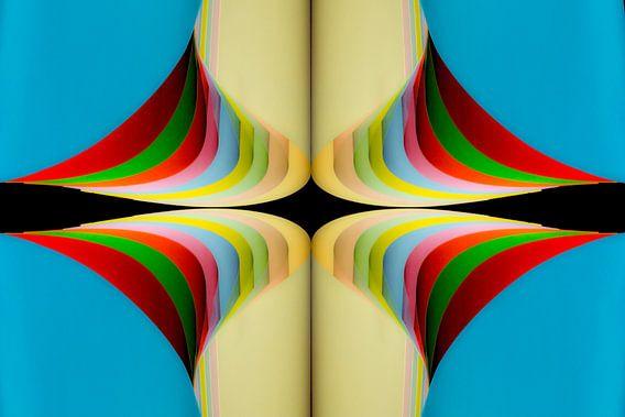 Papierkunst, digitale kunst.