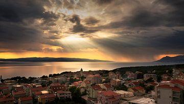 Zonsondergang Kroatië van Vincent Fennis