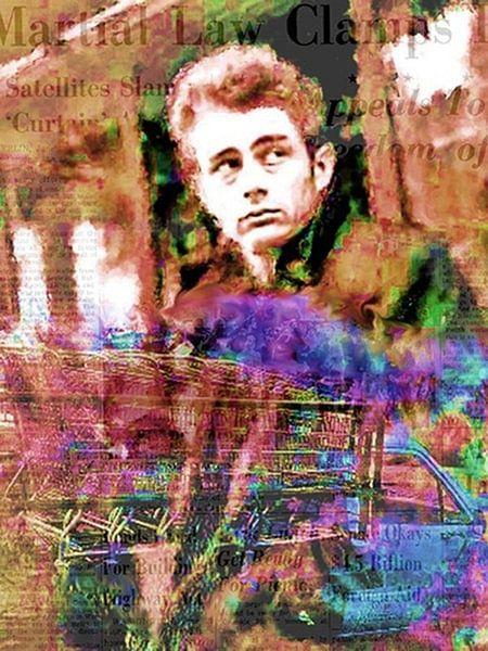 Dean Cart   James Dean Pop Art Canvas von Leah Devora