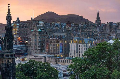 Edinburgh tijdens zonsopkomst