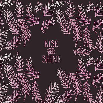 Grafikkunst RISE & SHINE | pink