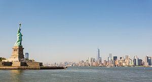 New York City skyline & Vrijheidsbeeld van