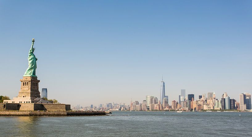 New York City skyline & Vrijheidsbeeld van Capture the Light