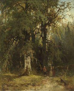 View in the Woods, Johannes Warnardus Bilders