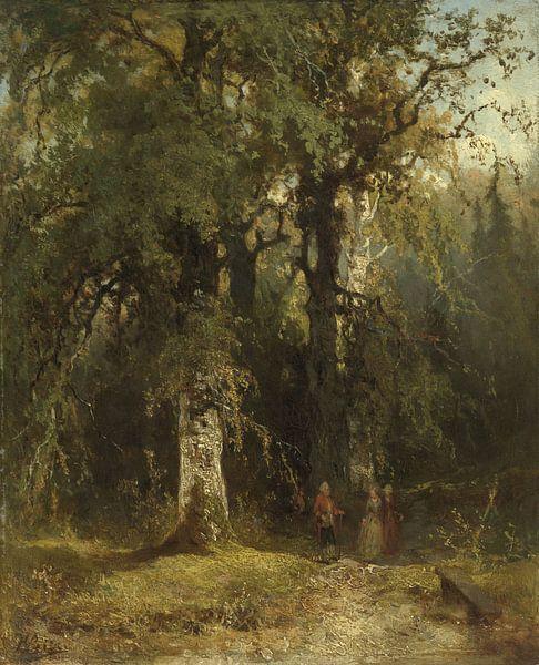 View in the Woods, Johannes Warnardus Bilders von Meesterlijcke Meesters