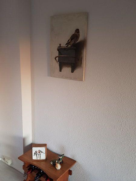 Klantfoto: 'Het puttertje', Carel Fabritius van Meesterlijcke Meesters