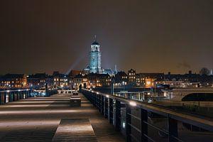 Deventer skyline by night van