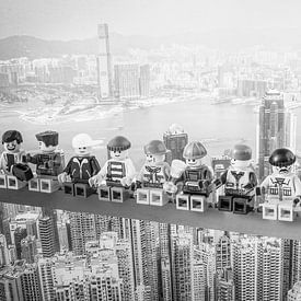 Lunch atop a Skyscraper Lego Edition von Marco van den Arend
