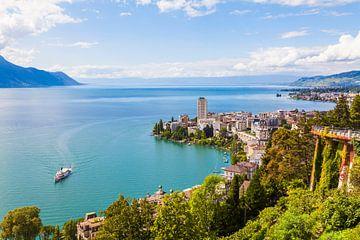 Montreux aan het meer van Genève van