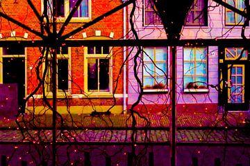 Hollandse gevels met Kerst van Studio Kunsthart