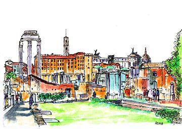 Rom Forum Romanum von Gerard Beekman