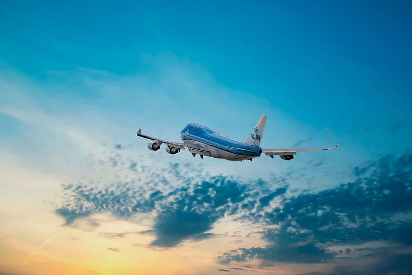 Boeing 747-406, KLM PH-BFN, KL2020, The City of Nairobi van Gert Hilbink