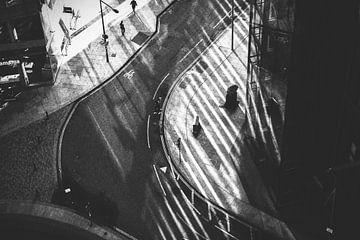 Straßenansicht von London in Schwarz-Weiß von Erik Juffermans