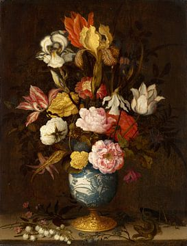Flowers in a Wan-Li Vase, Balthasar van der Ast sur
