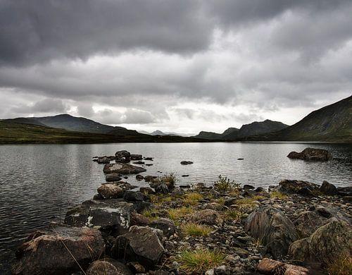Stenen in Noors bergmeer van