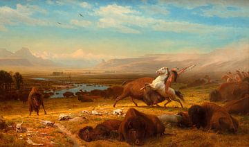 Der Letzte der Büffel, Albert Bierstadt