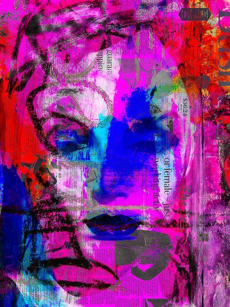 Blue eyes and lips van Gabi Hampe
