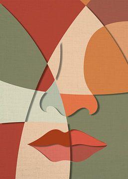 Gesichtsauszug (Flächen, braun-grün) von Color Square