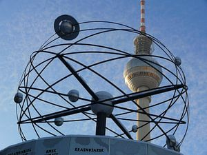 World Time Clock with Snow, Berlin TV Tower, Alex