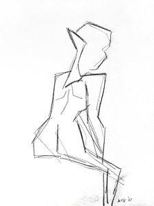 vrouwelijk naakt van