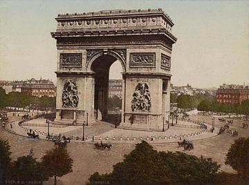 L'Arc-de-Triomphe de L'Etoile, Paris van Vintage Afbeeldingen