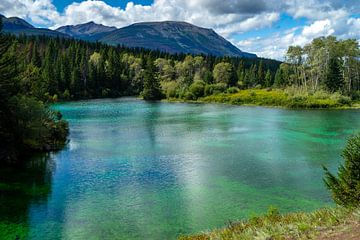 Uitzicht op het tweede meer in de vallei van de vijf meren van Hans-Heinrich Runge