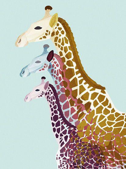 Giraffes in Blauw
