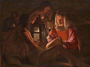 Saint Sébastien soigné par Irène, Georges de La Tour