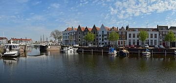 Haven bij de Spijkerbrug in Middelburg van Zeeland op Foto