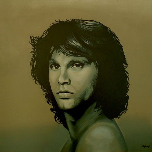 Jim Morrison schilderij