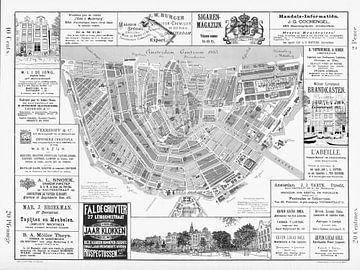 Kaarten van Amsterdam 1883 Zwart-Wit van Hendrik-Jan Kornelis