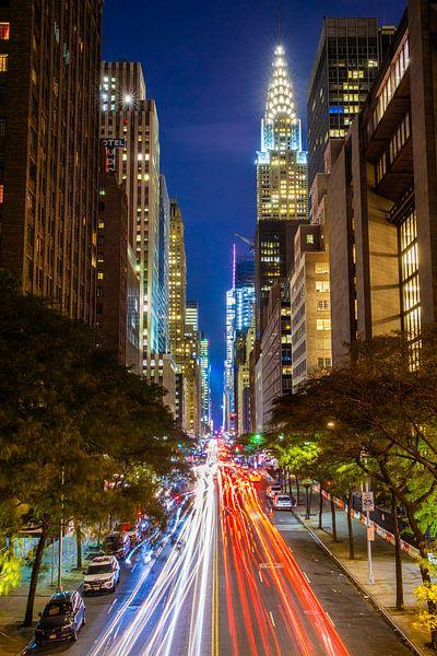 Chrysler gebouw long exposure van Michel van Rossum