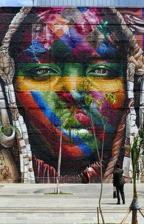 Kleurig gezicht van Ton Bijvank