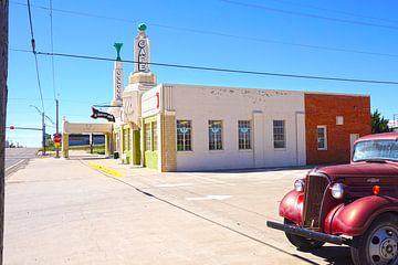 U-drop Inn Conoco-Tankstelle Route 66, Shamrock TX von Tineke Visscher