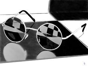 Sunglasses in the bathroom