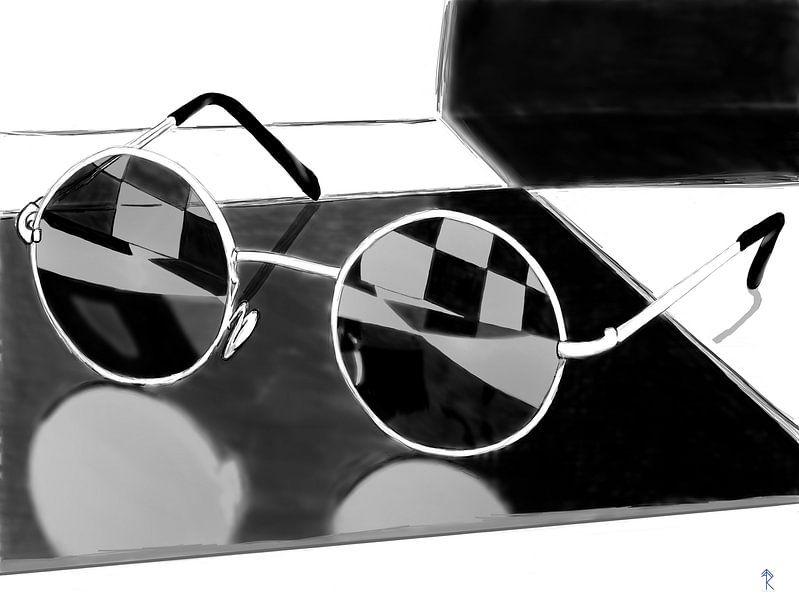 Sunglasses in the bathroom von Ronald Veelenturf